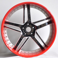 3-piece style forged alloy wheel rims and lips