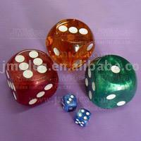 marble colorful dices