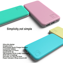 PURIDEA S2 10000 mAh Portable Charger, Dual USB Power Bank External Battery Backup Pack for iPhone 5 6 7 Plus Samsung HTC Nokia