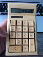 Natural 12 digits solar power bamboo scientific calculator with Factory price CE FCC