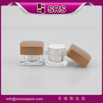 Cosmetic square shape acrylic clear cream jar