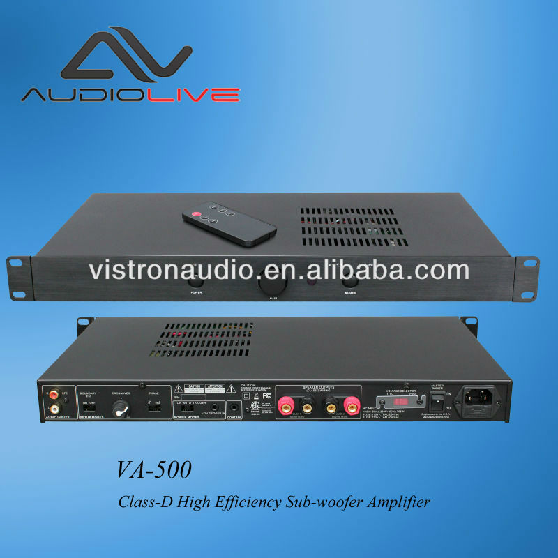 Manufacturer Supply VDA-500 Professiona indoorl CE Certificate 500W high power sub amplifier