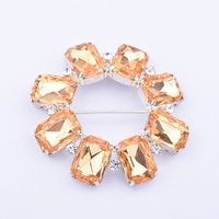 Blossom Flower Rhinestone Gold Shoe Buckle