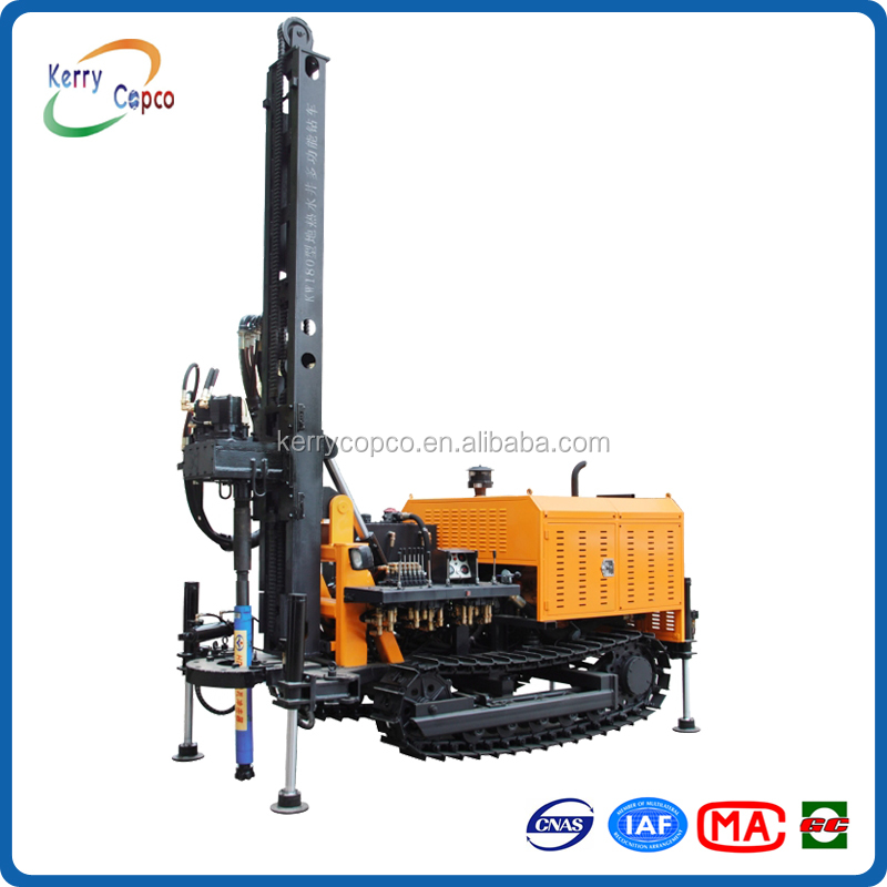 KW180 180m depth 110 ~ 202mm diameter crawler mounted multifunctional geothermal water well drilling rig
