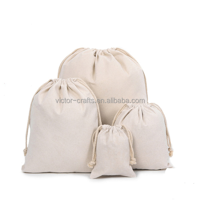 Blank bag no imprint plain canvas bags multifunction drawstring bag canvas