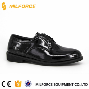 MILFORCE-New design army dubai police formal dress shoes