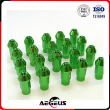 20pc M12x1.25 T7005 Aluminum Lug Nut Nuts Forged Extended Tuner Wheel Rim Green