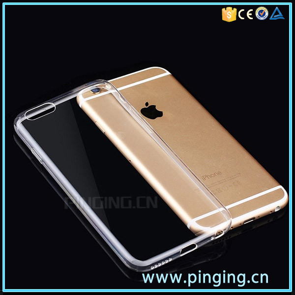 Ultra Thin Mobile Phone Case For Apple iPhones 6 7 S Plus Clear Transparent Silicon / TPU Phone Case Cover