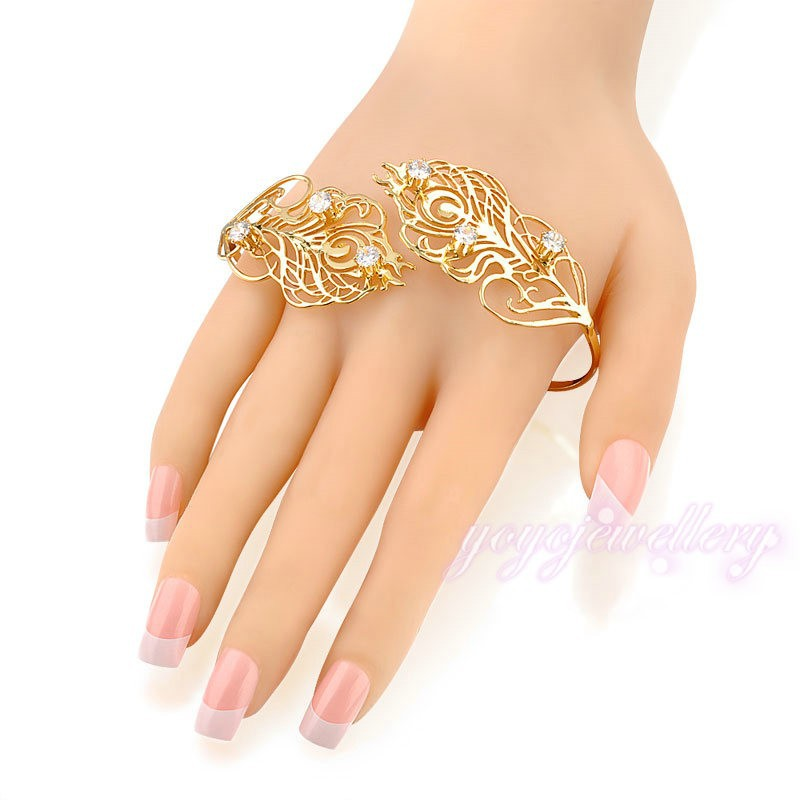girl dresses gift crystal couple feather shape indian fashion hot selling palm cuff sex bangle