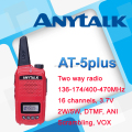 New coming AT-5plus colorful PMR 2 way radio