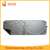170/190t polyester silver coating no printing car sunshade