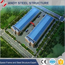 Steel frame structure warehouse layout design drawing