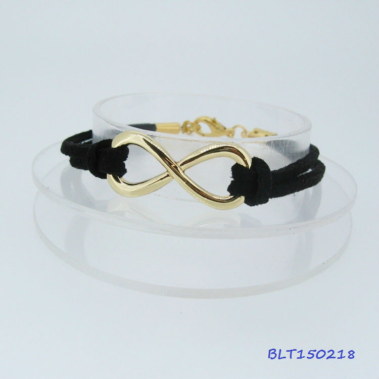 Hot 2013 lady's infinity Leather wish bracelet all color