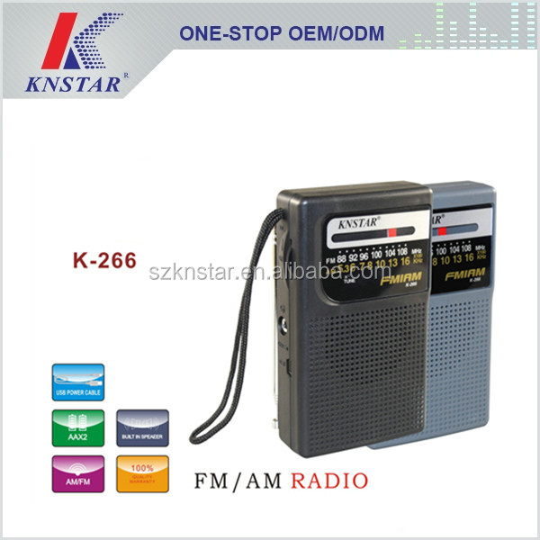 pocket am fm radio kit with DC power supply