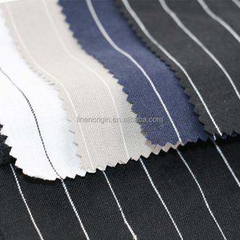 fashion pure linen fabric,linen fabric stripe design,100% linen fabric for garment
