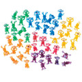 Monkey mini clear plastic figurines