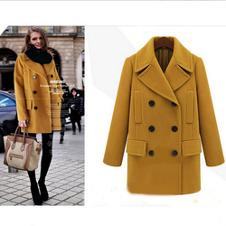 WA9215 top quality women winter thick coat plus size lady coats manufacturers