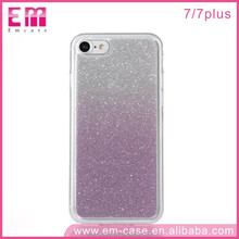 Hot Selling Glitter Quicksand TPU Material Color Changing Phone Case for iPhone7 7Plus