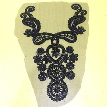 Wholesale selling high quality factory chemical cotton embroidery african lace collar