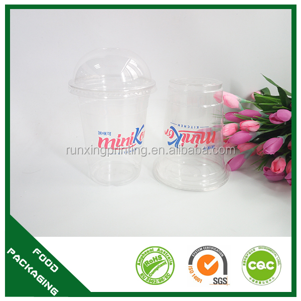 large top irregular shape cold drink plastic cup