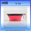 Non-toxic colorful silicone collapsible bowl for camping