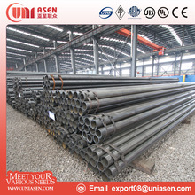 Building material Grade B Q235B ERW black round steel welded pipe and tube