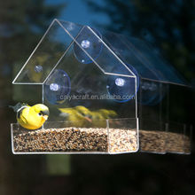 clear acrylic window bird feeder large strong all weather suction cups