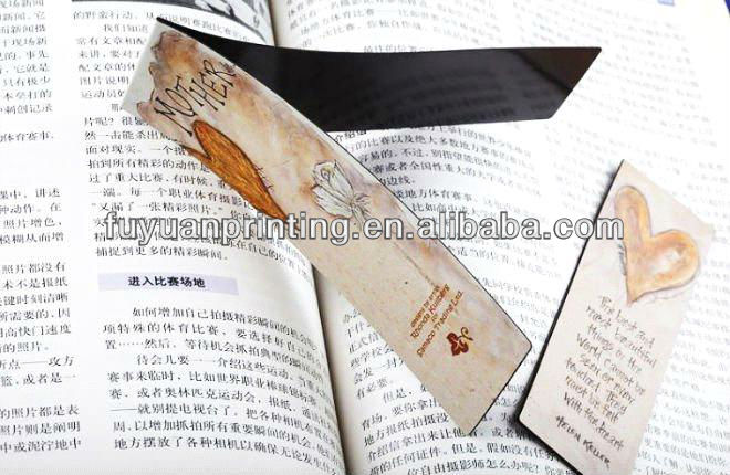 promotional folding magnetic clip bookmark for book,magnetic paper book mark-HSM 055