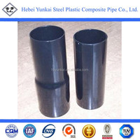 Black coated pipe / Cable conduit pipe of Polyethylene-coated steel pipe / Polyethylene lined steel pipe