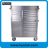 Strong metal tool cabinet box with wheels