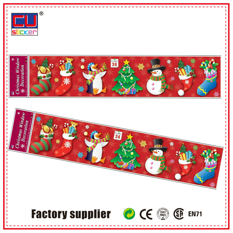 Christmas Decoration Wholesale Window Stickers