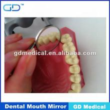 Espejo dental de acero inoxidable