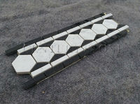 Strip Triangle and Hexgon Black and White Marble Border Line Design