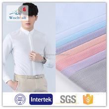 Polyester cotton blend shirting fabrics for men's shirts,T-shirt in stock from Wochuan