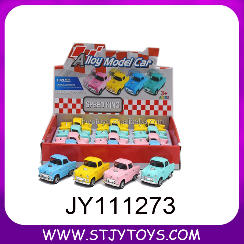 Child toy car 4 wheels die cast baby pull back car candy color