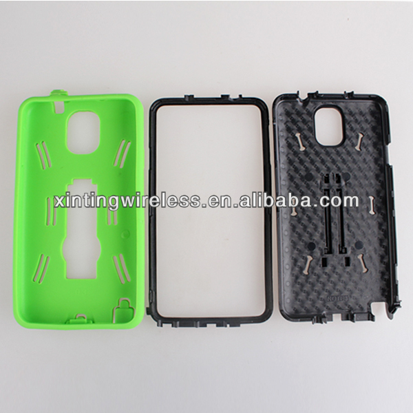 2013 New Hot Design Robot Anti-shock Silicone PC Case For Samsung Galaxy Note3