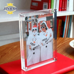 JINBAO Clear 5x7 Acrylic Frame for Christmas Photo