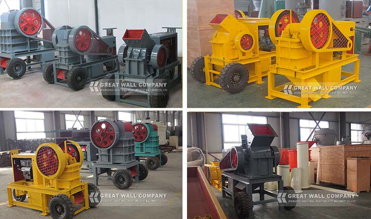 Top supplier CE Approved Hard stone Mobile diesel engine stone jaw crusher