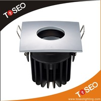 IP65 bathroom 10w square shape anti glare led ceiling light