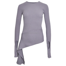 Fashion Clothing Crew Neck Knit Pullover Sweater Designs For Girls