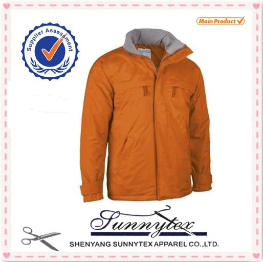 Sunnytex design 2015 winter warm jacket waterproof and breathable