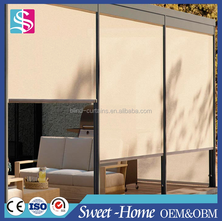 Outdoor Blackout Vinyl Roller Shades