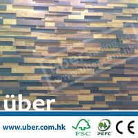 Uber interior decorative colored wooden wall covering paneling