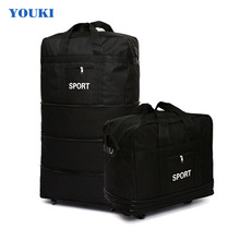 Hot Sell 2018 Newest design Fold trolley travel bags oxford luggage