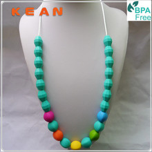 BPA free , Food Grade Plastic Bead Necklace for Kids