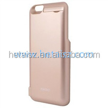 2015 New rose gold external battery case for iphone 6s, for iphone6s power bank charger case with stand function cell phone case