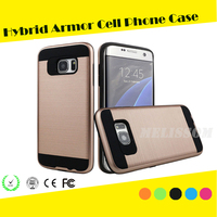 2016 Hot! Hybrid Armor Style Dual Layer Hair Line Case cover for samsung galaxy s7/ s7 edge