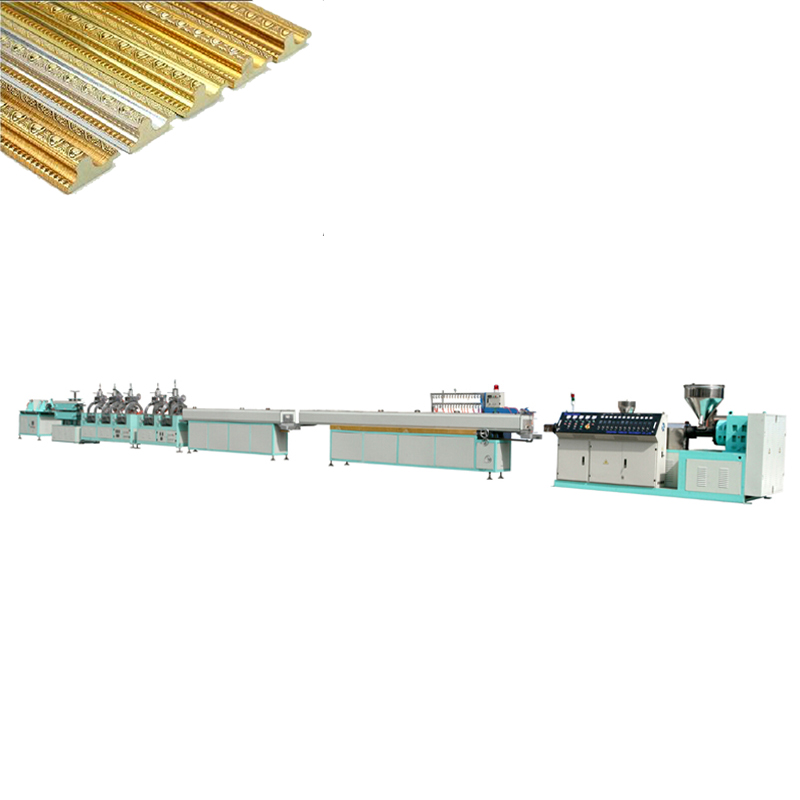 High efficiency PS decorative molding production line