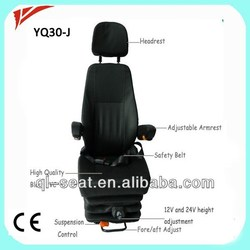 Deluxe back adjustment used crawler bulldozer seat for heavy truck