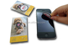 Mobile phone microfiber Screen Cleaner advertising sticker
